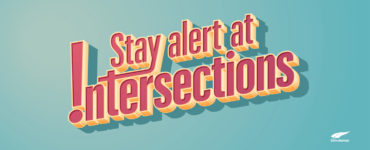 Stay alert at intersections