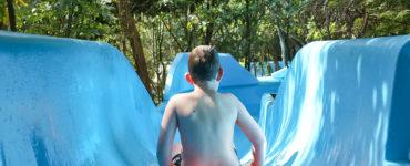 Child on the Waterslide at Wainuiomata Pool