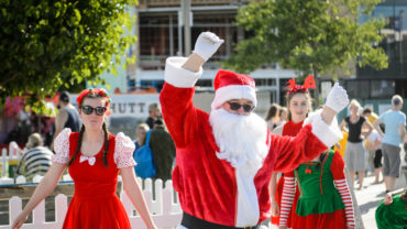 Santa at Christmas in the Dowse