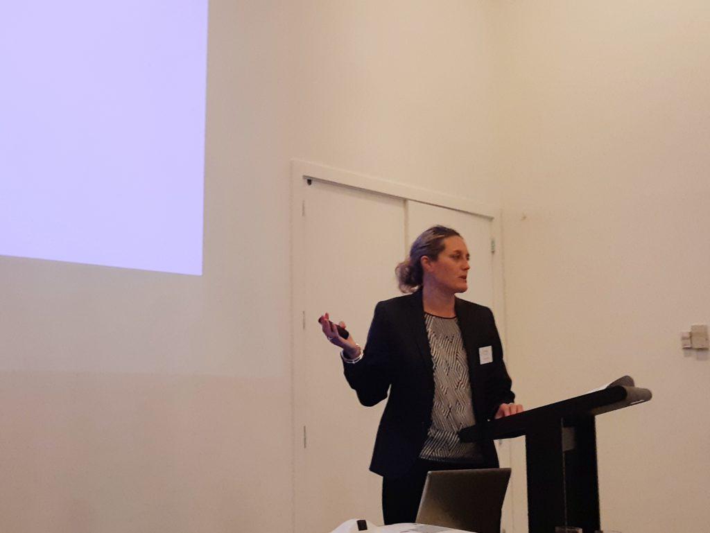 Bridgit Sissons Engineering NZ addresses attendees at Science Symposium