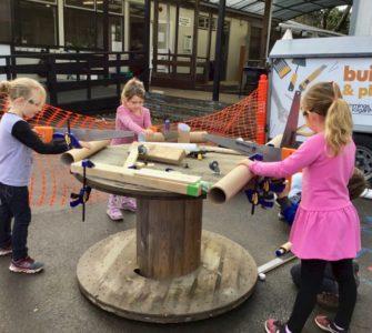 Children at Waterloo School playing