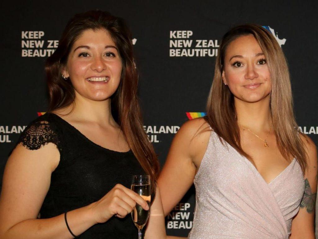 Hutt City Council's  Mel Gardner and Riba Greally at the Keep New Zealand Beautiful awards 2018