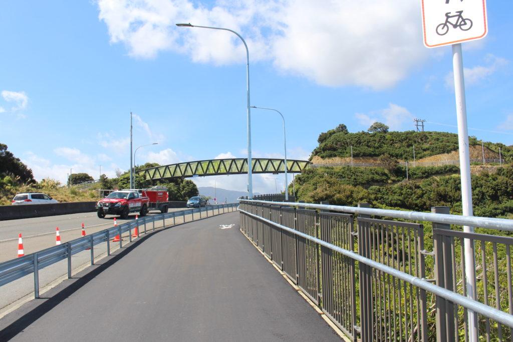Looking from the Shared Path towards Pukeatua Bridge