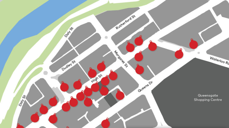 Map for Light up the Hutt competition