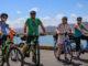 Green Jersey cycle tour on Petone Wharf
