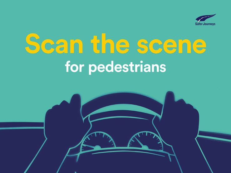 Scan the scene for pedestrians campaign image
