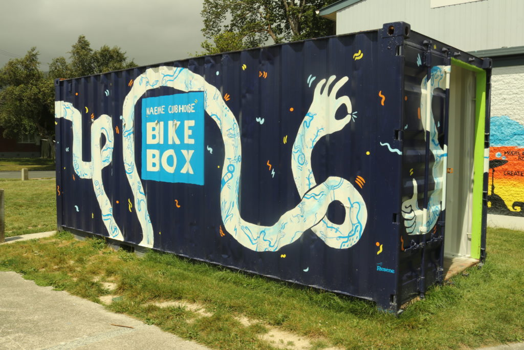 A shipping container called the Bike Box