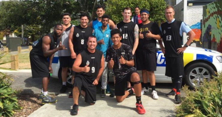 The Police and Naenae youth teams.