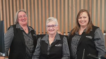 The Customer Services Team: Cathy Reid, Eileen Hughes and Karen Whitford.