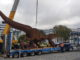 Colin the T-Rex moving from Dowse square on a truck