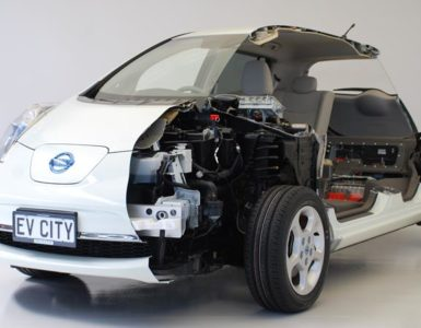 Showcase X-ray of a Nissan Leaf