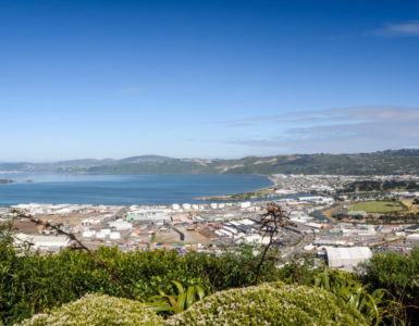 Lower Hutt Panoramic from Wainuiomata Hill