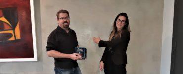 Dr Mark Glenny and Evie Haverkort