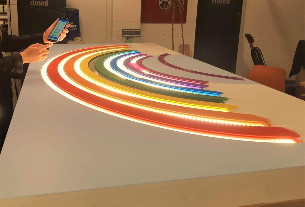 Rainbow board using SmartTech by Resene