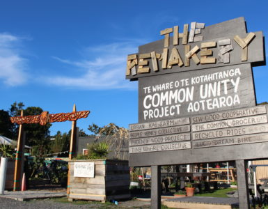 Sign outside the ReMakery, Lower Hutt