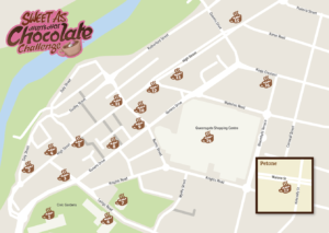 Map of participating cafes