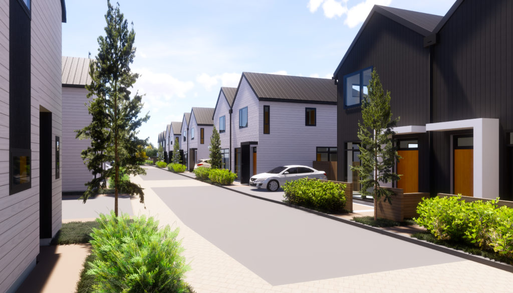 The Lane in Waterloo Lower Hutt, an UPL development featuring 27 modern townhouses