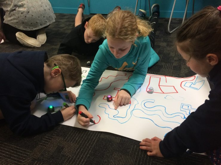 Ozobots in action.