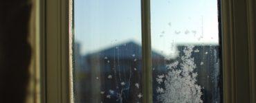 Photo of frosty window