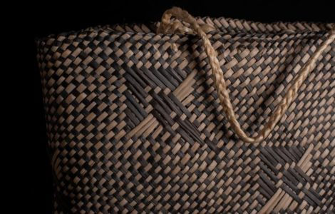 Traditional woven kete (basket)