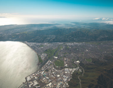 Lower Hutt aerial view
