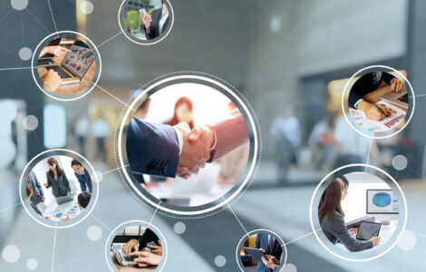 Stock image representing business connections