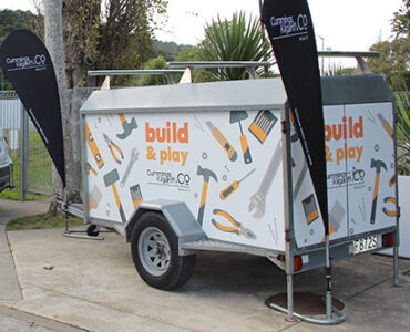 Build & Play trailer parked up