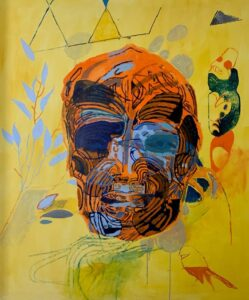 Shane Cotton, Gesture, 2021. Acrylic on canvas. LR